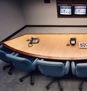 Woodpecker Enterprises: Oak Video Conferencing Table