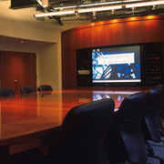 Woodpecker Enterprises: Custom Conference, Boardroom, Video Conferencing Table - Cherry